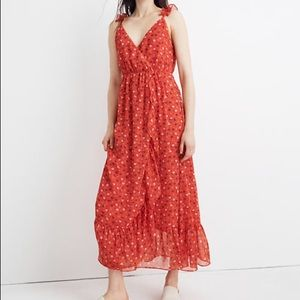 NWT Madewell Prairie Posies Ruffle Fx Wrap Dress